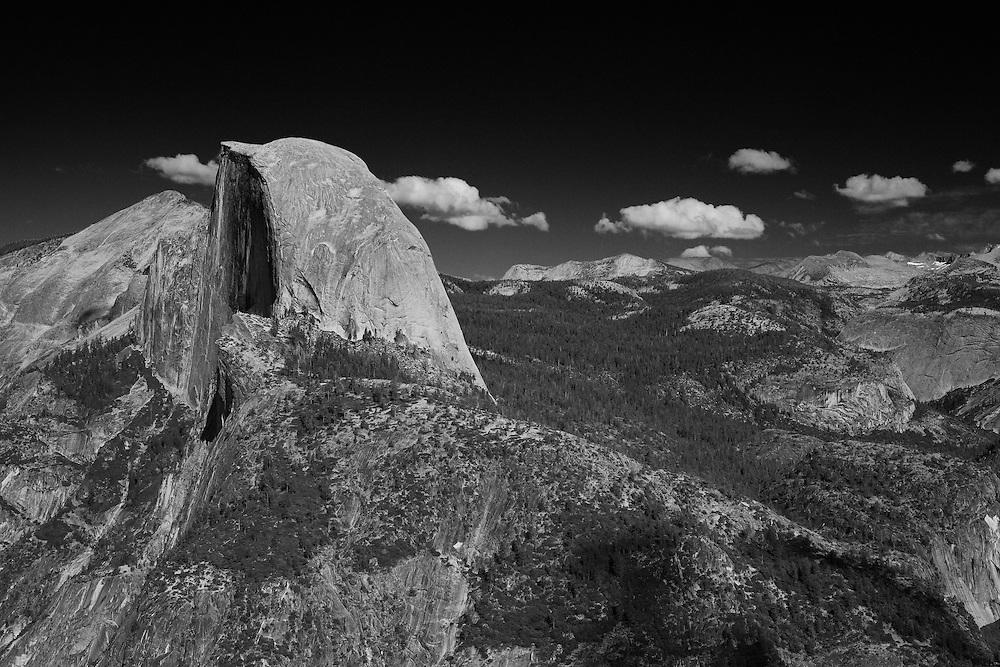 Half Dome - Glacier Point View - Yosemite - Black & White