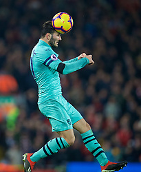 LIVERPOOL, ENGLAND - Saturday, December 29, 2018: Arsenal's Sead Kolašinac during the FA Premier League match between Liverpool FC and Arsenal FC at Anfield. (Pic by David Rawcliffe/Propaganda)