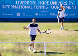 LIVERPOOL, ENGLAND - Sunday, June 18, 2017: Liverpool doubles duo brothers Ken [L] and Neal Skupski during Day Four of the Liverpool Hope University International Tennis Tournament 2017 at the Liverpool Cricket Club. (Pic by David Rawcliffe/Propaganda)