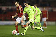 Brighton winger, Jamie Murphy (15) at full pace during the Sky Bet Championship match between Nottingham Forest and Brighton and Hove Albion at the City Ground, Nottingham, England on 11 April 2016.