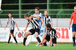 Dzuzdanovic Amel of ND Gorica vs. 2 Players of ND Mura during the football match between ND Mura and ND Gorica in 1st Round of Pokal Slovenije 2015/16, at Fazanerija on August 19, 2015 in Murska Sobota, Slovenia. Photo by Mario Horvat / Sportida