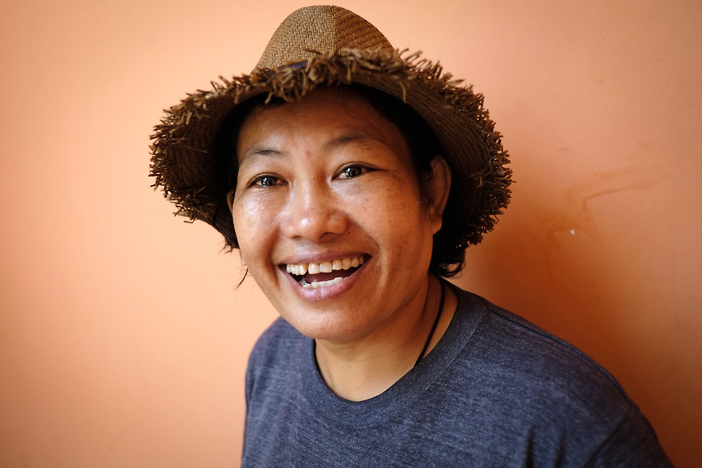 Portrait of Noung Khoy, 42 years old eco-tour guide from Siem Reap, Cambodia. <br />