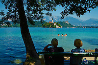 Slovenie, region de Gorenjska, le lac Bled et les Alpes Julian // Slovenia, Bled, Lake Bled and Julian Alps