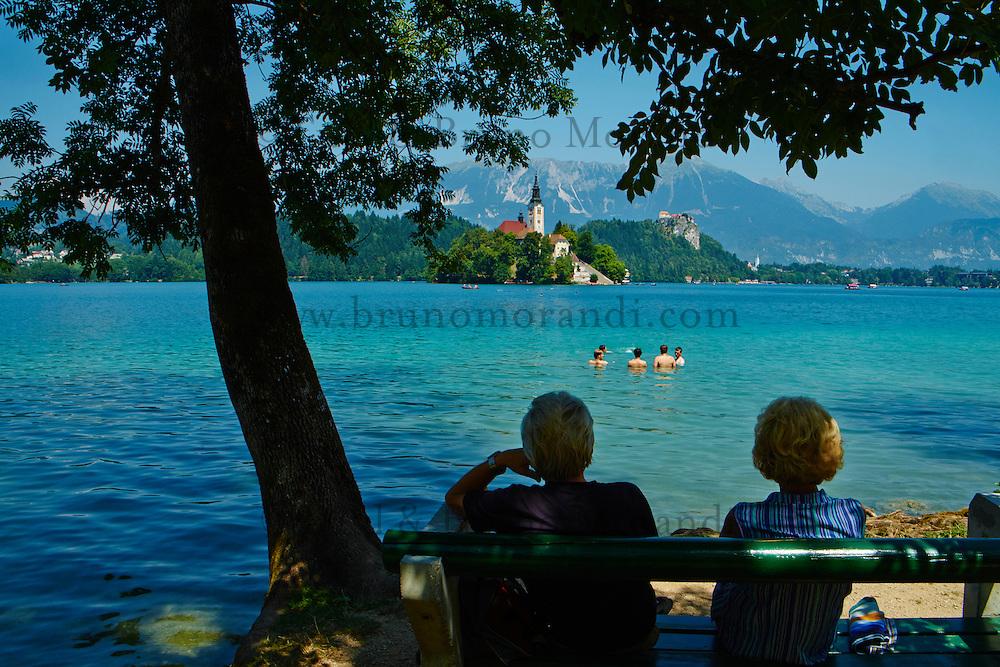 Slovenie, region de Gorenjska, le lac Bled et les Alpes Julian // Slovenia, Bled, Lake Bled and Julian Alps