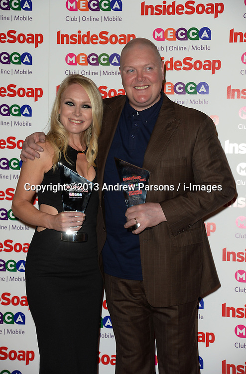 Inside Soap Awards.<br /> Michelle Hardwick with Dominic Brunt during the Inside Soap Awards, Ministry of Sound, London, United Kingdom,<br /> Monday, 21st October 2013. Picture by Andrew Parsons / i-Images