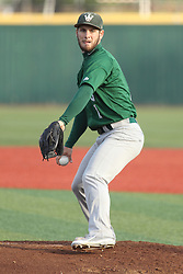 21 April 2015:  Adam Seifert starts the game for the Titans during an NCAA Inter-Division Baseball game between the Illinois Wesleyan Titans and the Illinois State Redbirds in Duffy Bass Field, Normal IL
