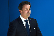 Meeting of NATO Heads of State and/or Government<br /> Brussels, Belgium -  Official portrait in the Agora<br /> <br /> On the photo:  Luxembourg's Prime Minister Xavier Bettel