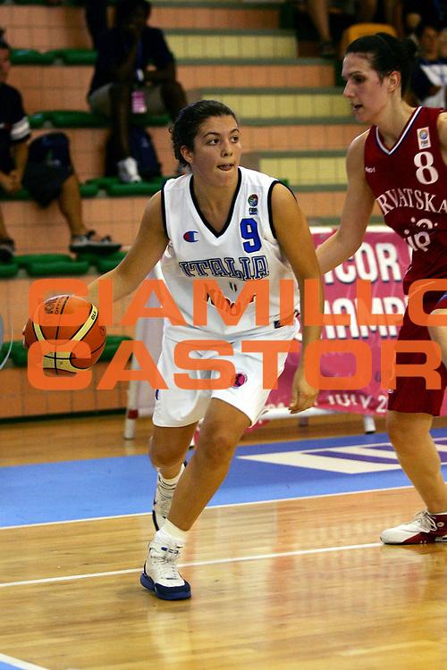 DESCRIZIONE : Chieti UMCOR U18 European Championship Women Division B Italy Croatia<br /> GIOCATORE : Battisodo<br /> SQUADRA : Italy<br /> EVENTO : UMCOR U18 European Championship Women Division B<br /> GARA : Italy Croatia<br /> DATA : 29/07/2006<br /> CATEGORIA : Palleggio<br /> SPORT : Pallacanestro<br /> AUTORE : Agenzia Ciamillo-Castoria/L.Lussoso