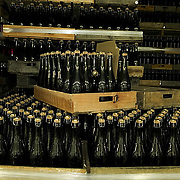 bottled wine ready for shipping, Bodegas Carrau winery, Montevideo, Uruguay,