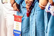 22-01-2016: waterpolo: Nederland v Hongarije: Belgrado<br /> <br /> SMIT Yasemin of team Netherlands met vaan van KNZB<br /> <br /> Women final waterpolomatch between team The Netherlands vs Hungary during the 32nd LEN European Championships in Belgrade<br /> <br /> Foto: Gertjan Kooij