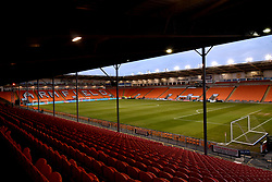 A general view of the pitch prior to the beginning of the Emirates FA Cup, third round match at Bloomfield Road, Blackpool.