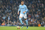Kyle Walker during the Premier League match between Manchester City and Newcastle United at the Etihad Stadium, Manchester, England on 20 January 2018. Photo by George Franks.