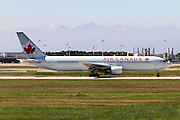 Air Canada Boeing 767-375ER Photographed at Malpensa airport, Milan, Italy