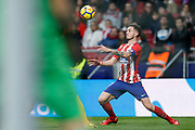 Atletico Madrid's Spanish midfielder Saul Niguez controls the ball during the Spanish championship Liga football match between Club Atletico de Madrid and Girona FC on January 20, 2018 at the Wanda Metropolitano stadium in Madrid, Spain - Photo Benjamin Cremel / ProSportsImages / DPPI