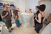 Vienna. Opening of Gerhild Amerer's (r.) Affaire De Coeur boutique.