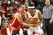 January 20, 2014: Deverell Biggs (1) of the Nebraska Cornhuskers and Aaron Craft (4) of the Ohio State Buckeyes fight for the ball at the Pinnacle Bank Arena, Lincoln, NE. Nebraska won in the game against Ohio State 68 to 62.