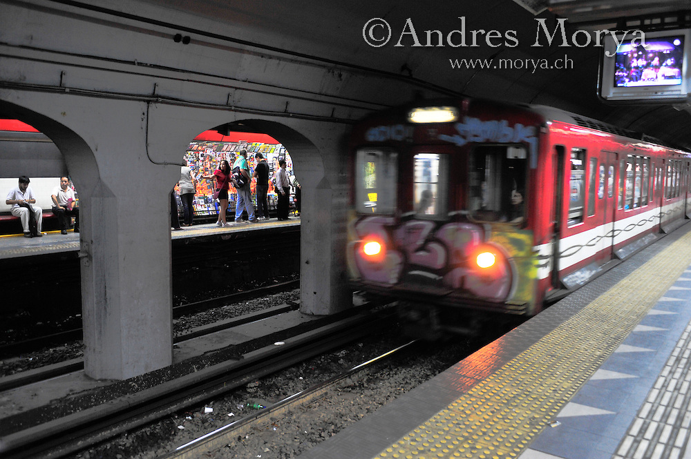 Subway or Metro, Buenos Aires, Argentina Image by Andres Morya
