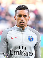 Marquinhos of PSG  during the French Ligue 1 match between Nantes and Paris Saint Germain at Stade de la Beaujoire on January 21, 2017 in Nantes, France. (Photo by Anthony Dibon/Icon Sport)