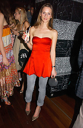AMANDA CROSSLEY at a party hosted by Allegra Hicks and Melissa Del Bono to celebrate the opening of Volstead, Swallow Street, London W1 on 4th May 2006.<br />