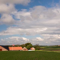 The rolling countryside of northern Jutland in Denmark.