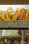 Bread in the cases of Caputo's Bake Shop in Brooklyn's Carroll Gardens.