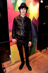 LUKE WORRELL at a party to celebrate the Firetrap Watches and Kate Moross Collaboration Launch, held at Firetrap, 21 Earlham Street, London, UK on 13th October 2010.