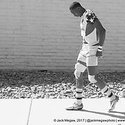 Perry Baker of the United States walks to the pitch before South Africa defeat the United States 20-17 in the Cup Place Semi Final at the USA Sevens,  Round Five of the World Rugby HSBC Sevens Series in Las Vegas, Nevada, Sunday March 5, 2017. <br /> <br /> Jack Megaw for USA Sevens.<br /> <br /> www.jackmegaw.com<br /> <br /> jack@jackmegaw.com<br /> @jackmegawphoto<br /> [US] +1 610.764.3094<br /> [UK] +44 07481 764811
