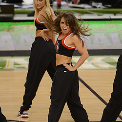Mar 31, 2012; New Orleans, LA, USA; Members of the Louisville Cardinals dance team perform during halftime in the game between the Louisville Cardinals and Kentucky Wildcats in the semifinals of the 2012 NCAA men's basketball Final Four at the Mercedes-Benz Superdome. Mandatory Credit: Derick E. Hingle-US PRESSWIRE