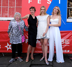Edinburgh International Film Festival 2019<br /> <br /> Hurt By Paradise (World Premiere)<br /> <br /> Stars and guests arrive on the red carpet for the world premiere<br /> <br /> Pictured: (l to r) Veronica Clifford, Camilla Rutherford, Director Greta Bellamacina and Tanya Burr<br /> <br /> Aimee Todd | Edinburgh Elite media