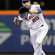 NEW YORK, NEW YORK - APRIL 26:  Neil Walker #20 of the New York Mets fielding at second base during the New York Mets Vs Cincinnati Reds MLB regular season game at Citi Field on April 26, 2016 in New York City. (Photo by Tim Clayton/Corbis via Getty Images)