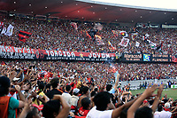 Rio de Janeiro, Brazil - September 13, 2007: Flamengo supporters at the soccer rio state championship 2007 final between Flamengo and Botafogo in the Old Maracana stadium