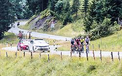 12.07.2019, Kitzbühel, AUT, Ö-Tour, Österreich Radrundfahrt, 6. Etappe, von Kitzbühel nach Kitzbüheler Horn (116,7 km), im Bild Spitzengruppe, Feature v.l.: Pieter Vanspeybrouck (Wanty Groupe Gobert, BEL), Daniel Auer (Maloja Pushbikers, AUT), Lukas Spengler (Wallonie Bruxelles, CHE), Connor Swift (Arkea Samsic, GBR) // during 6th stage from Kitzbühel to Kitzbüheler Horn (116,7 km) of the 2019 Tour of Austria. Kitzbühel, Austria on 2019/07/12. EXPA Pictures © 2019, PhotoCredit: EXPA/ JFK