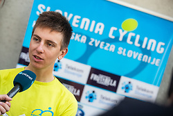 Tadej Pogacar during press conference of Slovenian national cycling team before world championship in Yorkshire, Great Britain. Press conference held in Dvor Jezersek, on 17th of September, 2019, Kranj, Slovenia. Photo by Grega Valancic / Sportida