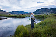 Diana Abbott '18, Fly fishing guide, Yellowstone National Park. Colby-Sawyer College Alumni Magazine, Internships.