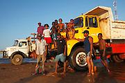 Washing trucks in Mahanaro. Madagascar. November 2015.  ( Photo - Zute Lightfoot)
