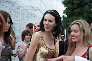 L'WREN SCOTT; GEORGIA MAY JAGGER, The Serpentine Summer Party 2013 hosted by Julia Peyton-Jones and L'Wren Scott.  Pavion designed by Japanese architect Sou Fujimoto. Serpentine Gallery. 26 June 2013. ,
