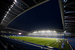 Amex Stadium lit by flood light prior to kick off - Mandatory by-line: Jason Brown/JMP - 10/03/2017 - FOOTBALL - Amex Stadium - Brighton, England - Brighton and Hove Albion v Derby County - Sky Bet Championship