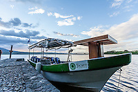 The transport boat at Jicaro Island Ecolodge, Granada, Nicaragua
