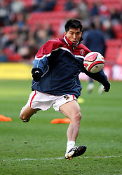 LONDON, ENGLAND - Friday, March 21, 2008: Charlton Athletic's Zheng Zhi warms-up against West Bromwich Albion during the League Championship match at the Valley. (Photo by Chris Ratcliffe/Propaganda)