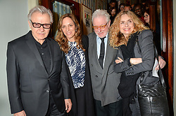 Left to right, HARVEY KEITEL, DAPHNA KASTNER, HUGH HUDSON and MARYAM D'ABO  at the opening night of People, Places & Things at The Wyndham's Theatre, Charing Cross Road, London on 23rd March 2016,