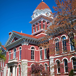 Crown Point Indiana Courthouse photo. The Lake County Courthouse was built in 1878 and is nicknamed The Grand Old Lady. The courthouse architecture is Romanesque and Georgian. Today it's used for events and has a ballroom and restaurants.