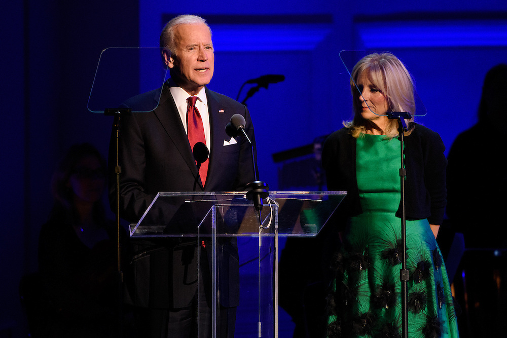 "Photos of Vice President Joe Biden and Jill Biden attending the ""It Always Seems Impossible Until It Is Done"" World AIDS Day event at Carnegie Hall in New York, NY on December 1, 2015. © Matthew Eisman/ Rolling Stone. All Rights Reserved"