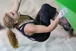 Shauna Coxsey of Great Britain during Final IFSC World Cup Bouldering Competition in sport climbing Log Dragomer 2013, on May 12, 2013 in Sportni Park, Log pri Brezovici, Slovenia. (Photo By Matic Klansek Velej/ Sportida.com)