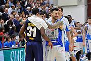 DESCRIZIONE : Beko Legabasket Serie A 2015- 2016 Dinamo Banco di Sardegna Sassari - Manital Auxilium Torino<br /> GIOCATORE : Christian Eyenga Brian Sacchetti<br /> CATEGORIA : Postgame Ritratto<br /> EVENTO : Beko Legabasket Serie A 2015-2016<br /> GARA : Dinamo Banco di Sardegna Sassari - Manital Auxilium Torino<br /> DATA : 10/04/2016<br /> SPORT : Pallacanestro <br /> AUTORE : Agenzia Ciamillo-Castoria/C.Atzori