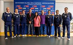 22-08-2017 NED: World Qualifications Slovenia - Bulgaria, Rotterdam<br /> Bulgaria win 3-1 against Slovenia / CEV delegate and referees