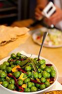 Andaluz Restaurant in Salem, Oregon. house marinated olives