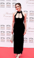 Actress Jennie Jacques at the IFTA Film & Drama Awards (The Irish Film & Television Academy) at the Mansion House in Dublin, Ireland, Saturday 9th April 2016. Photographer: Doreen Kennedy