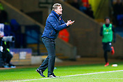 Bolton Wanderers Manager Phil Parkinson encourages his Bolton Wanderers players during the EFL Sky Bet Championship match between Bolton Wanderers and Sunderland at the Macron Stadium, Bolton, England on 20 February 2018. Picture by Simon Davies.