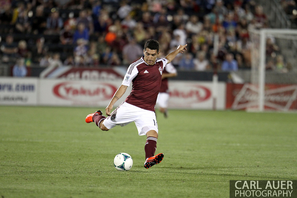 June 15th, 2013 - Colorado Rapids midfielder Martin Rivero (10) winds up late in the second half of action in the MLS match between San Jose Earthquake and the Colorado Rapids at Dick's Sporting Goods Park in Commerce City, CO
