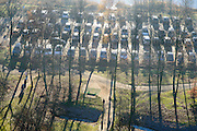Nederland, Noord-Holland, Muiden, 11-12-2013; Parkeerterrein bij Gooimeer, Golfbaan Naarderbos.<br /> luchtfoto (toeslag op standaard tarieven);<br /> aerial photo (additional fee required);<br /> copyright foto/photo Siebe Swart.